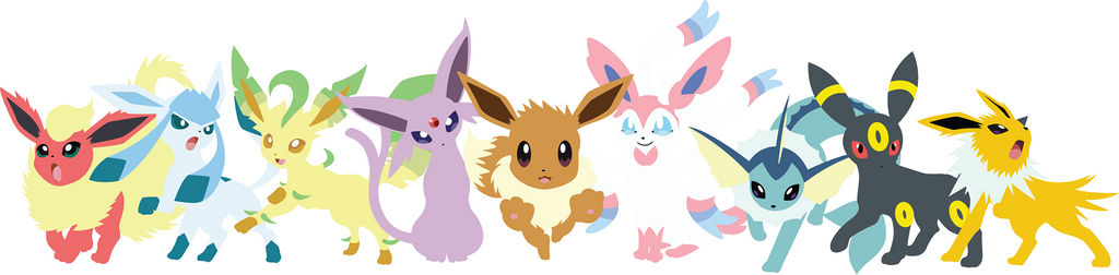 Eevee Evolution (Pokemon) Minimalist Vector