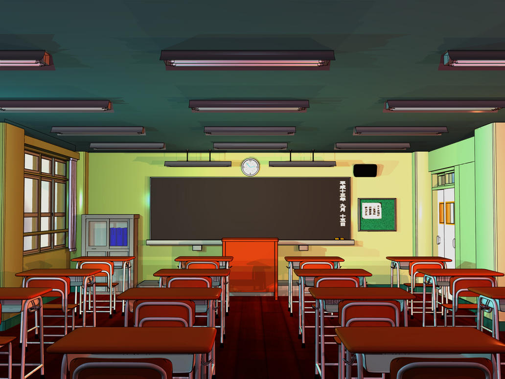 Anime Background - Classroom by FireSnake666