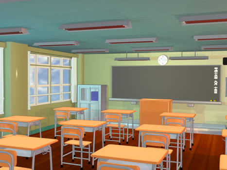Anime Background - Classroom II