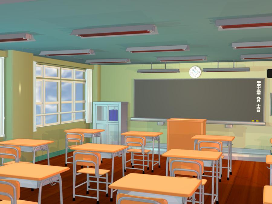 Anime Background Classroom Ii By Firesnake666 On Deviantart