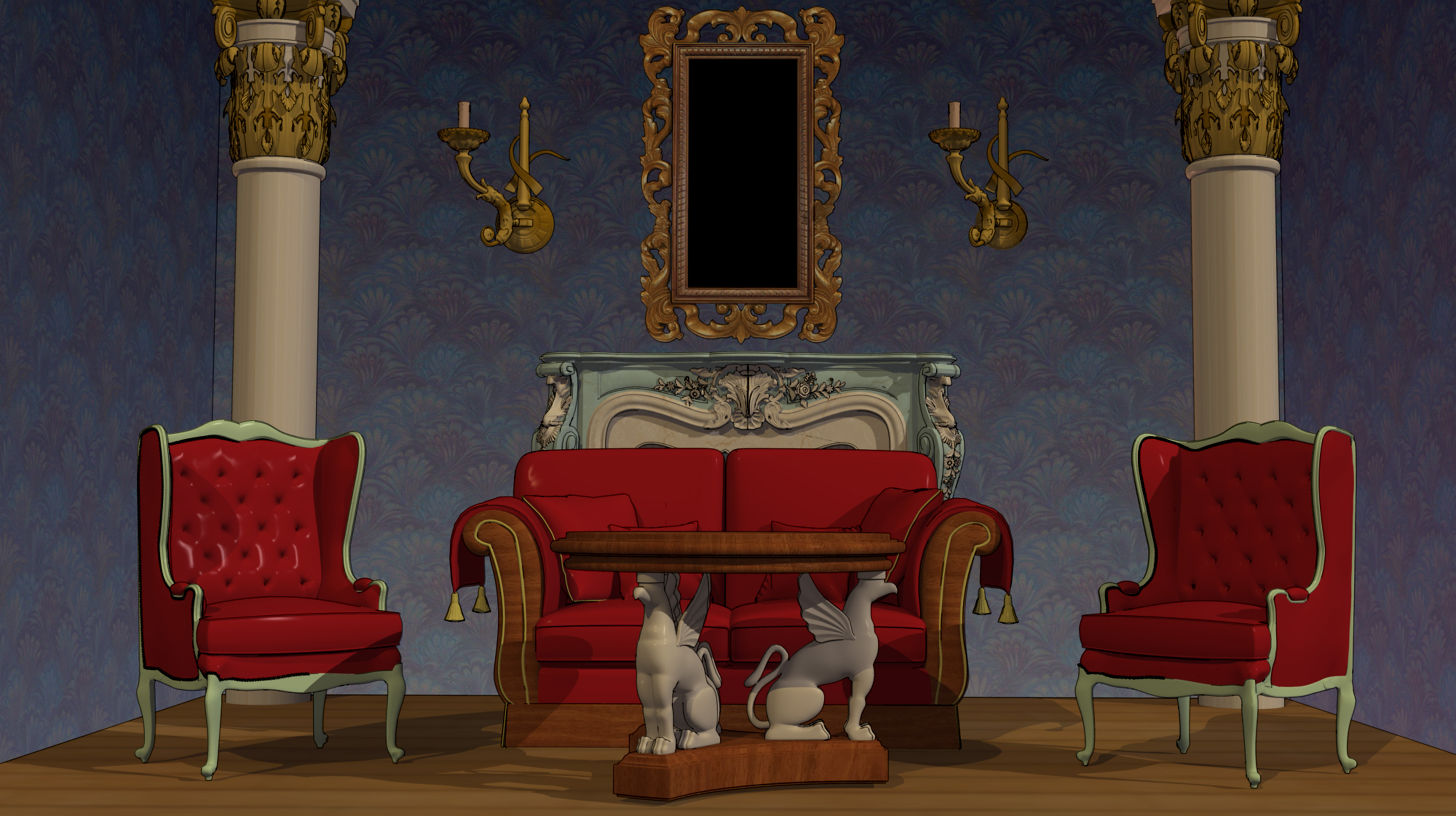 Anime Background - Classy Interior by FireSnake666 on ...