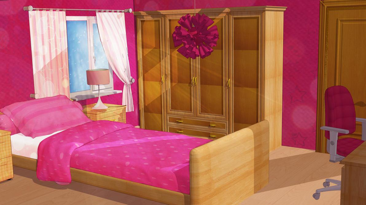 Anime Style Background - Girl Bedroom by FireSnake666 on ...