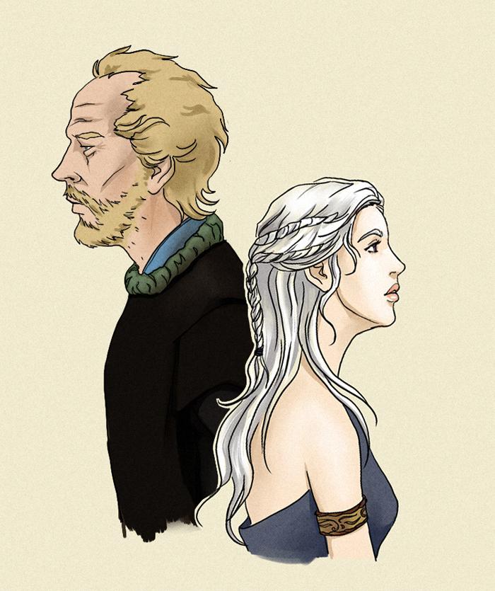 Jorah and Dany by Misty-Mirage