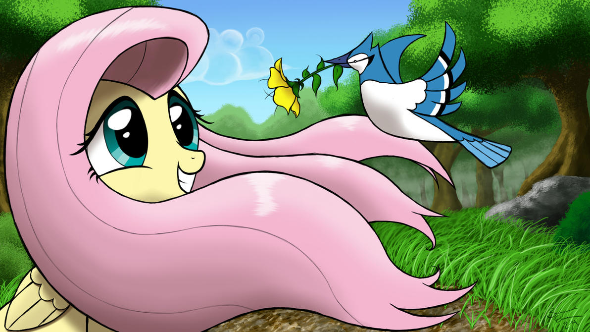 Flower for Fluttershy by HarmonicViper