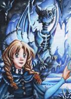 Ice Bone Dragon by Ermelin