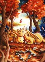 Golden Dragons by Ermelin