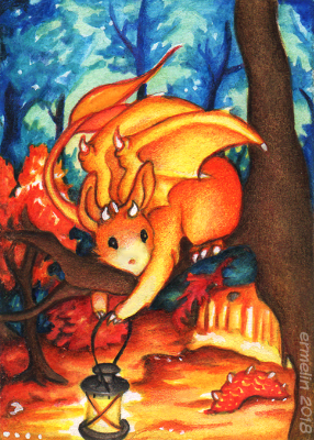 Cheap Art Supply Dragon by Ermelin