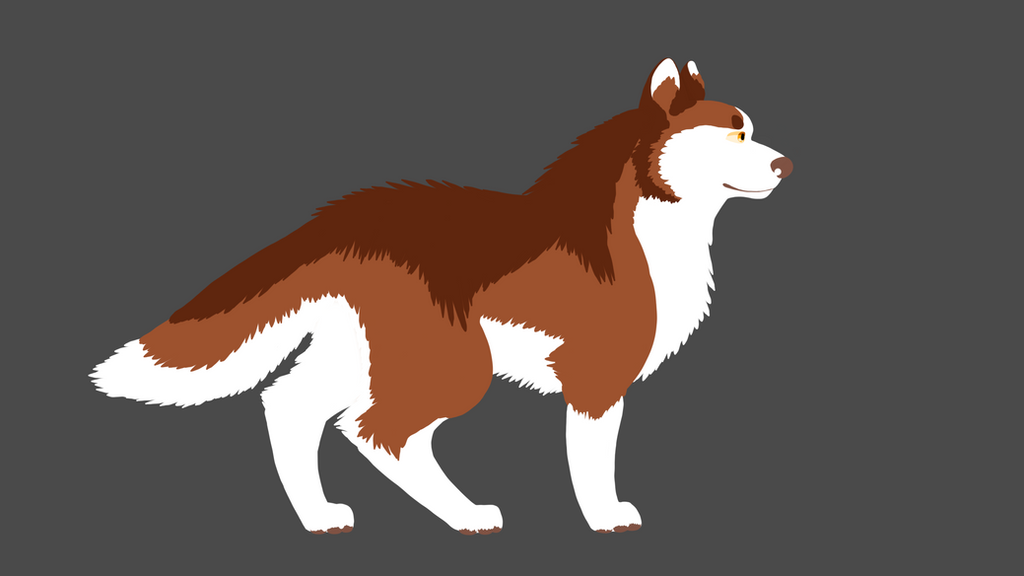 Random red husky by RavenfeatherOfRC