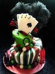 Playing Card Topsy Turvy Cake by vix4711