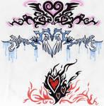 Three Tribal Hearts