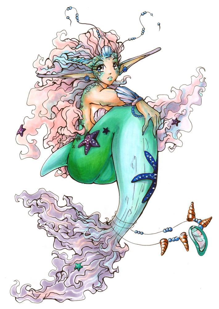 Mermaid Princess Color By Seiyachan On Deviantart Mermaid Princess Drawings