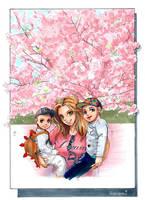 Manga portrait Me and my sons