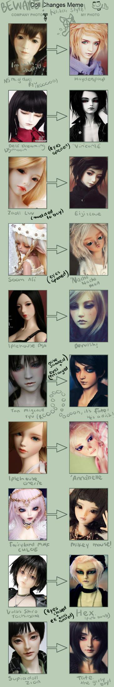 Doll Changes Meme by hiritai