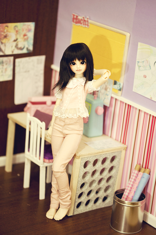 Pink jeans for Hachi by hiritai