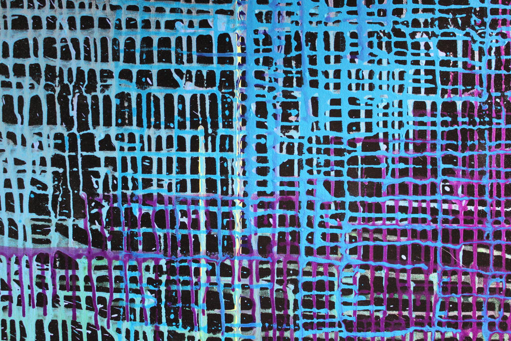00262 - Blue and Purple Painted Grid by emstock
