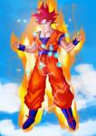 Supersaiyan God by JBArtforkids