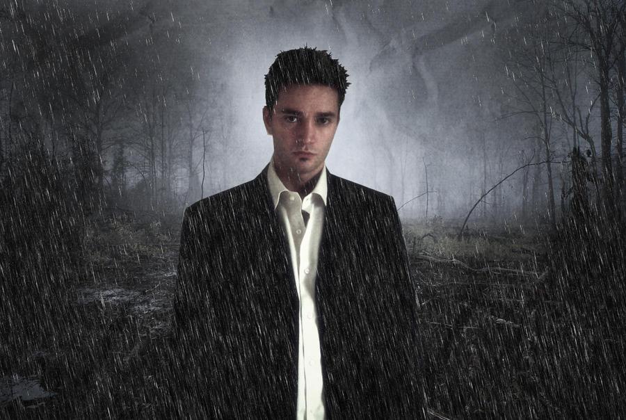 L'homme sous la pluie by Brice77120
