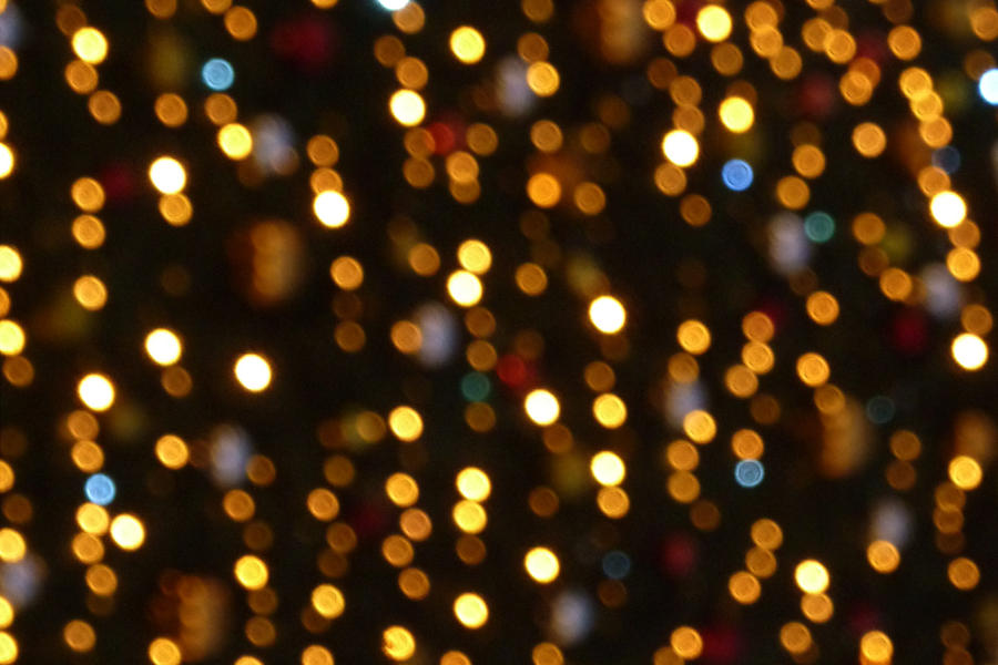 Christmas lights bokeh. by mylittlebluesky
