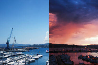 Before and after (the storm). by mylittlebluesky
