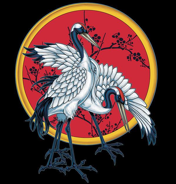 Japanese Cranes by badass-artist