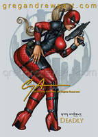 DEADLY Comic fan art pinup Greg Andrews artist by badass-artist