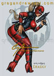 DEADLY Comic fan art pinup Greg Andrews artist
