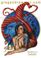 SARAH Fantasy Mermaid Pinup Art Greg Andrews Artis by badass-artist