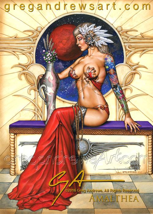 Amalthea Fantasy Pinup Art Artist Greg Andrews by badass-artist