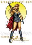 GUNNIE Fantasy Pinup Art Greg Andrews Artist