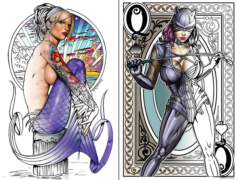 Coloring Page Samples by badass-artist