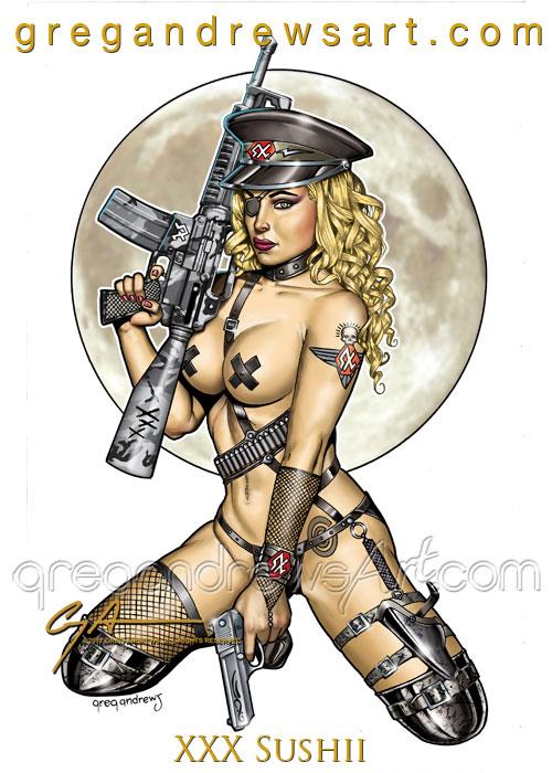 XXX SUSHII Sexy Fetish Pinup Greg Andrews Artist by badass-artist