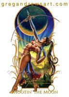 SHOOTIN' THE MOON Fantasy Art Greg Andrews by badass-artist