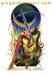 SHOOTIN' THE MOON Fantasy Art Greg Andrews