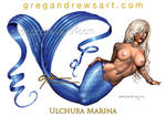 ULCHURA MARINA Sexy Fantasy Pinup Mermaid Art Greg by badass-artist