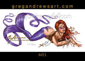 MEL sexy fantasy mermaid pinup art Greg Andrews by badass-artist