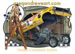 SNAKE CHARMER LINDA Dragster Art by Greg Andrews by badass-artist