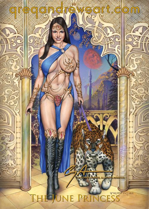 JUNE PRINCESS Sexy Fantasy Art Greg Andrews Artist by badass-artist
