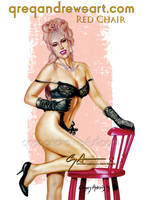 RED CHAIR Sexy Pinup Art Greg Andrews Artist by badass-artist