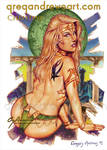CHRISTINE Sexy Fantasy Art Greg Andrews Artist