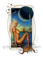Bronze Mermaid by badass-artist