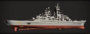 Battlecruiser Petr Velikiy rear