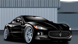 Maserati Granturismo vetorial - Inkscape 0.48.4 by AxelMuller
