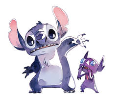 Stitch and Sableye