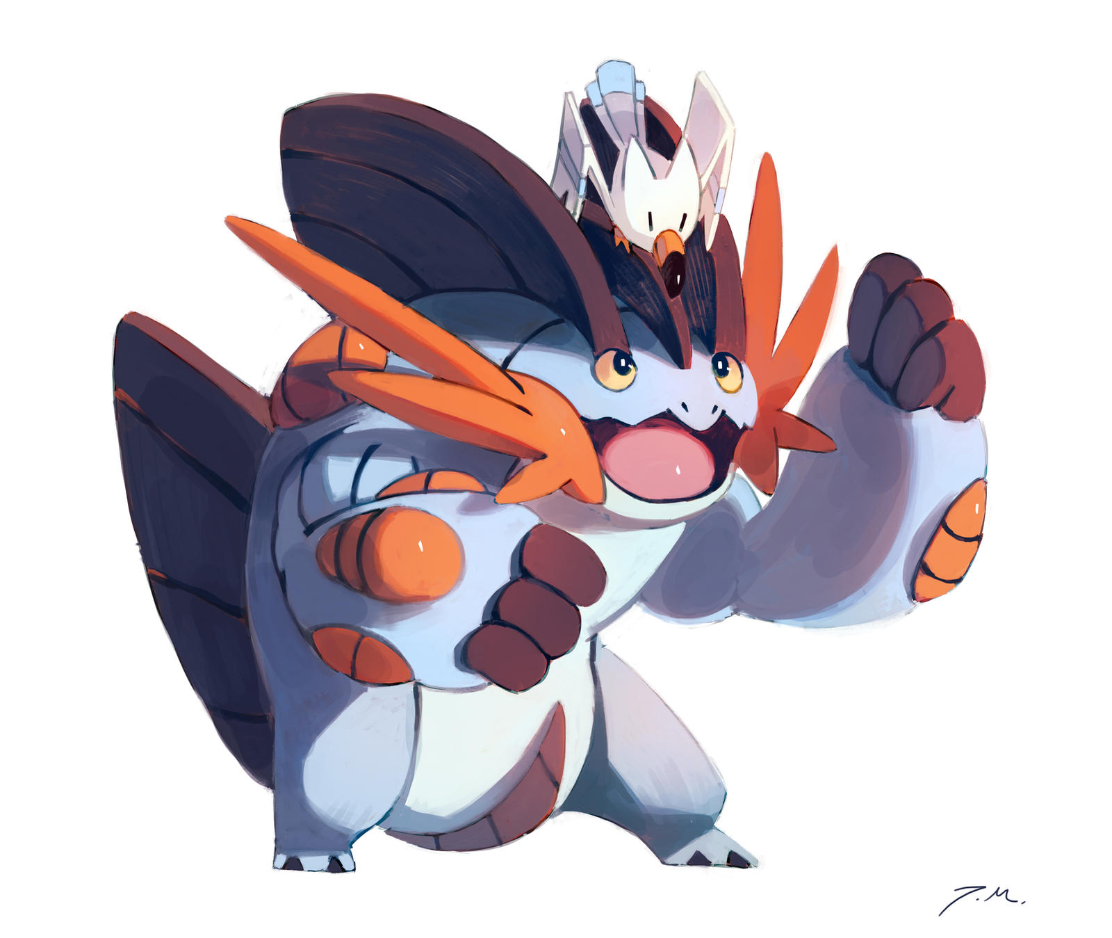 Mega Swampert and Wingull by bluekomadori on DeviantArt