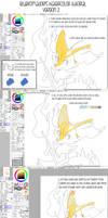 Sai watercolor tutorial + brushes, Sai file
