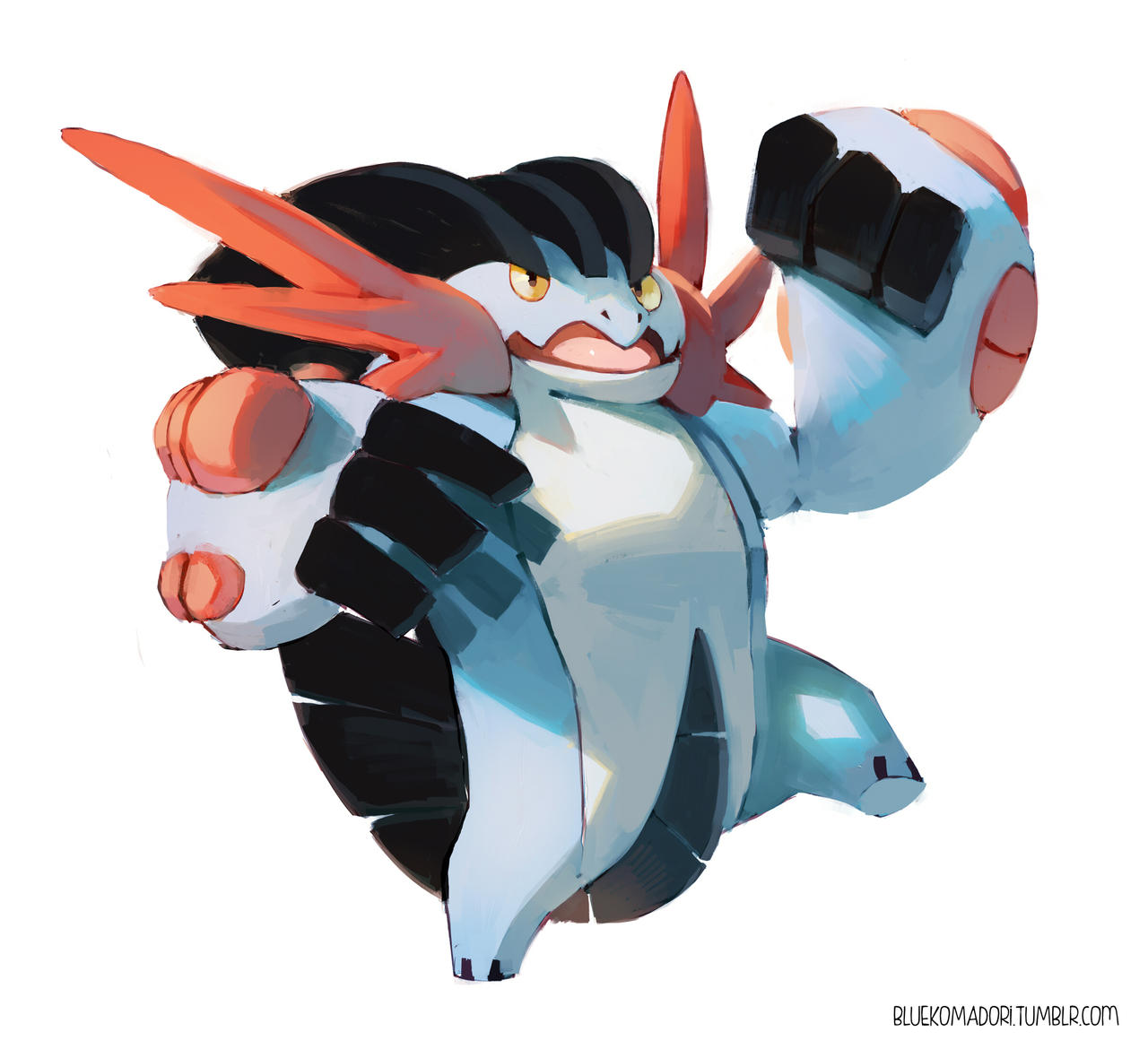 Mega Swampert by bluekomadori on DeviantArt