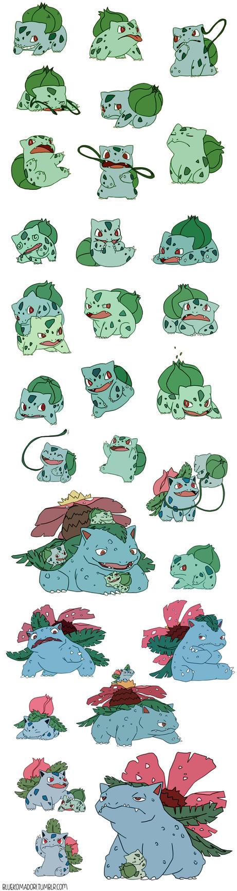 Bulbasaur commission by bluekomadori