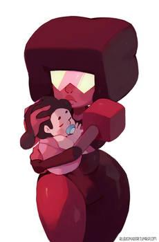 Garnet with baby Steven