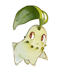 Chikorita by bluekomadori