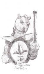 Gunnie In Armor by brongaar
